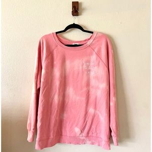 Old Navy Pink Bleach Dyed Sweater Size XL